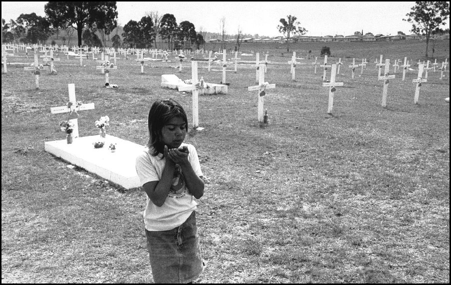 "Melissa Fisher - Cherbourg Cemetery from ""After 200 years"" - 1988"