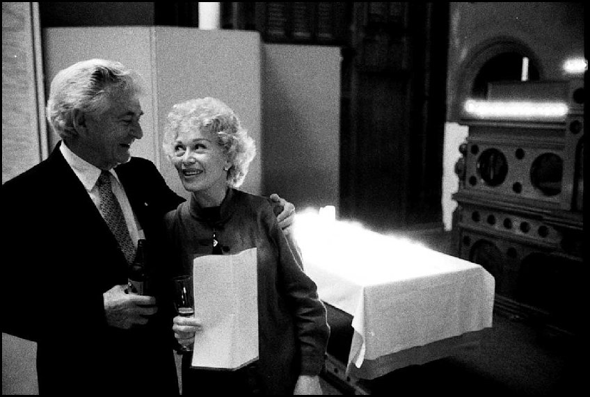 Bob Hawke and partner Blanche D'Alpuget Paddington c.2001