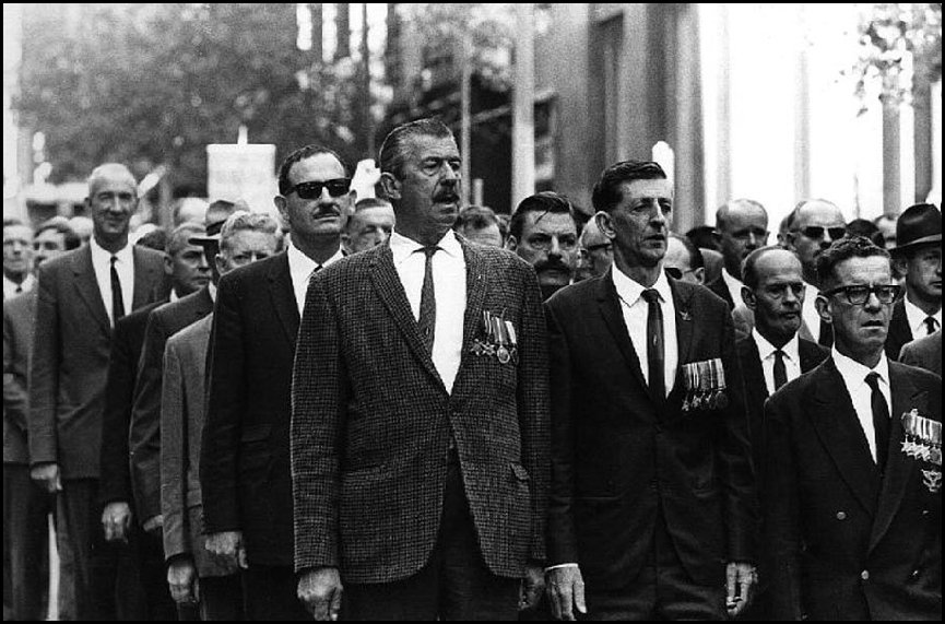 Chips Rafferty - Marching in Anzac Day parade 1968