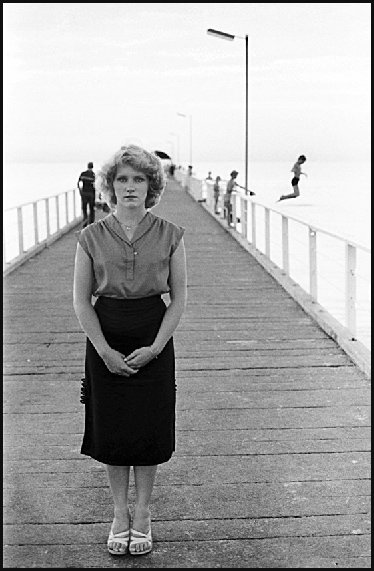 Kathy - On Brighton jetty 1980