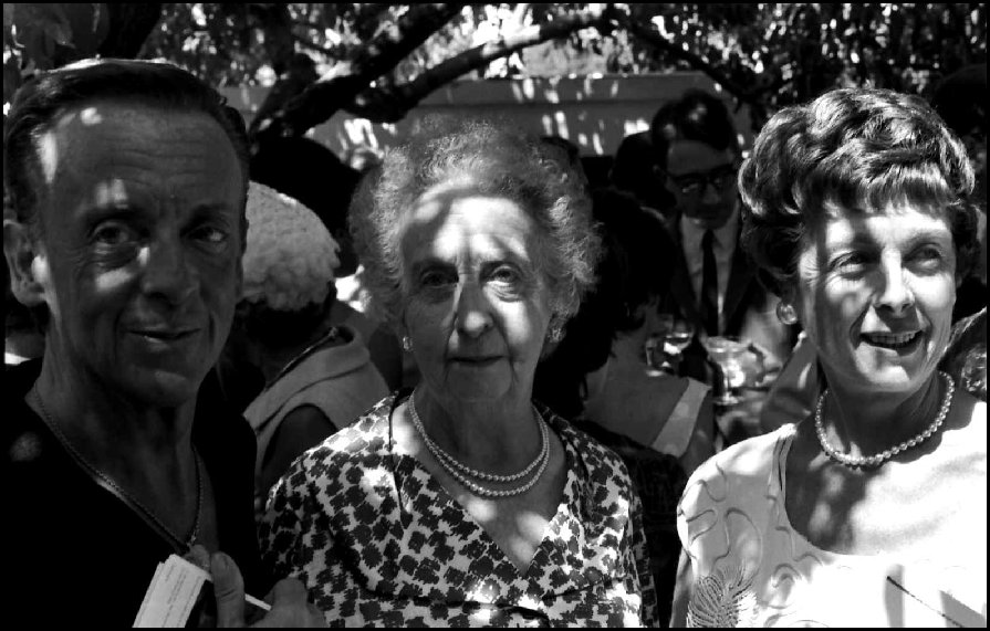 Robert Helpmann (1909-1986 with his mother and sister Sheila (R)  Adelaide Festival of Arts - 1964
