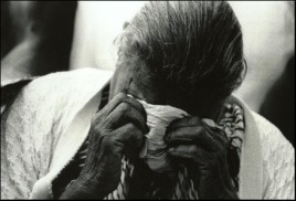 Grieving woman - Cherbourg 1988