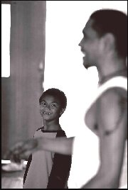 Choreographer Raymond Blanco giving workshop for Young Black and Deadly students - 2005
