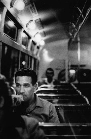 Charles Perkins going home from University - 1963